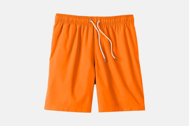 "Land's End 8"" Solid Volley Swim Trunks"