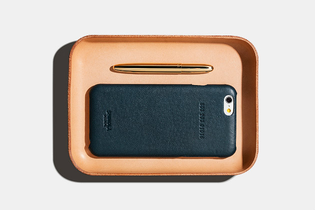 Shinola Small Leather Valet Tray